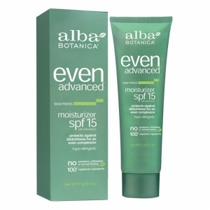 Alba Botanica Even Advanced Moisturizer, SPF 15, Sea Moss- 2 oz