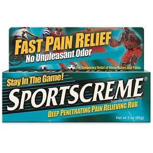 Sportscreme Deep Penetrating Pain Relieving Rub- 3 oz