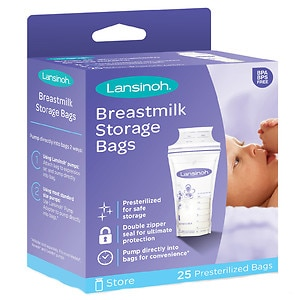 Lansinoh Breastmilk Storage Bags, 25 ea