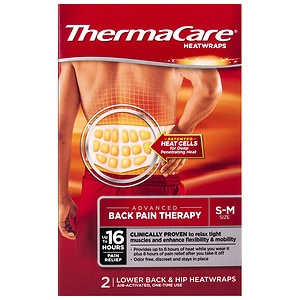 ThermaCare Air-Activated Heatwraps, Back & Hip, S/M- 2 ea