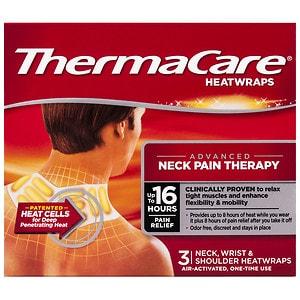 ThermaCare Air-Activated Heatwraps, Neck, Shoulder & Wrist, 3 ea
