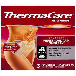 ThermaCare Air-Activated Heatwraps, Menstrual Cramp Relief- 3 ea