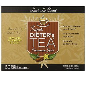 Laci Le Beau Super Dieter's Tea Bags, Cinnamon Spice- 60 ea