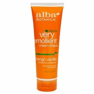 Alba Botanica Natural Very Emollient Cream Shave, Mango Vanilla- 8 fl oz