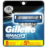 Gillette MACH3 Turbo Refill Cartridges- 8 ea