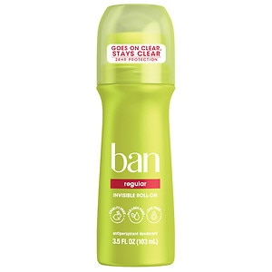 Ban Roll-On Antiperspirant & Deodorant, Regular- 3.5 fl oz