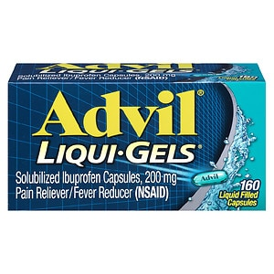 Advil Solubilized Ibuprofen Capsules, 200mg, Liquid Filled Capsules- 160 ea