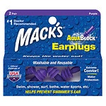 Mack's AquaBlock Earplugs, Purple