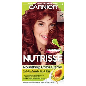 Garnier Nutrisse Permanent Haircolor, True Red 66 (Pomegranate)