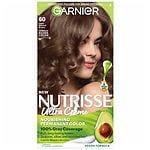Garnier Nutrisse Permanent Haircolor, Light Natural Brown 60 (Acorn)- 1 ea