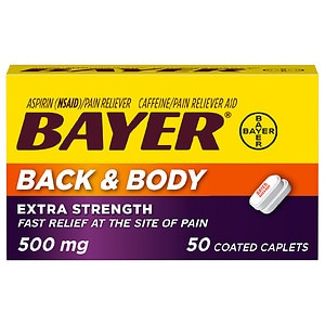 Bayer Caplets, Extra Strength Back & Body Pain Aspirin