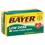Bayer Low Dose Aspirin Pain Reliever, 81mg Enteric Coated