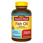 Nature Made Fish Oil, 1200mg, Liquid Softgels- 100 ea