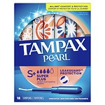 Tampax Pearl Tampons, Unscented, Super Plus- 18 ea