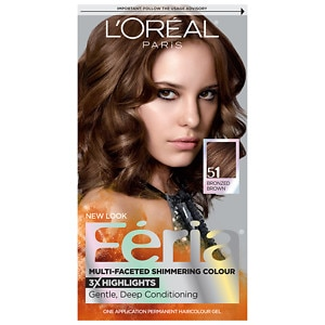 L'Oreal Feria Multi-Faceted Shimmering Colour 3x Highlights, Permanent, Brazilian Brown 51