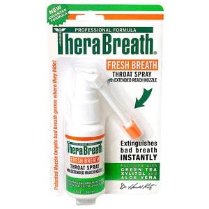 TheraBreath Fresh Breath Throat Spray with Green Tea Xylitol & Aloe Vera