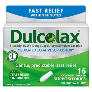 Dulcolax Laxative Comfort Shaped Suppositories Drugstore Com