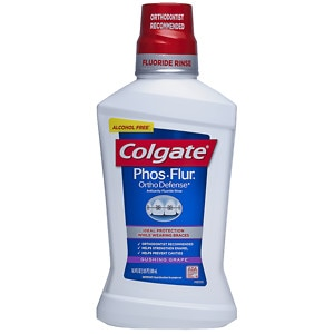 Colgate Phos-Flur Anti-Cavity Fluoride Rinse, Gushing Grape- 16 oz