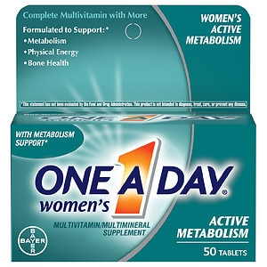 One A Day Women's Active Metabolism Multivitamin- 50 ea