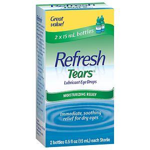 Refresh Tears, Lubricant Eye Drops, 2 Bottles- .5 fl oz