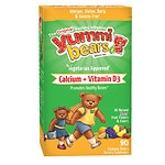 Yummi Bears Vegetarian Calcium + Vitamin D3, Sour Gummy Bears- 90 ea