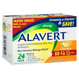 Alavert Allergy, Orally Disintegrating Tablets, Citrus Burst- 60 ea