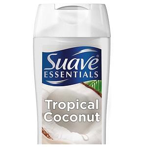 Suave Naturals Essentials Body Wash, Creamy Tropical Coconut