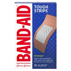 Band-Aid Tough-Strips Bandages, Extra Large- 10 ea