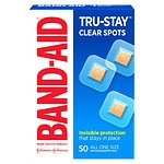 Band-Aid Perfect Blend Clear Bandages, 7/8 in x 7/8 in Square- 50 ea
