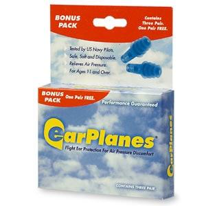 EarPlanes Earplugs, Flight Ear Protection- 3 pr