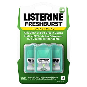 LISTERINE PocketPaks Oral Care Strips, Fresh Burst