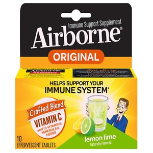 Airborne Effervescent Tablets, Lemon-Lime- 10 ea