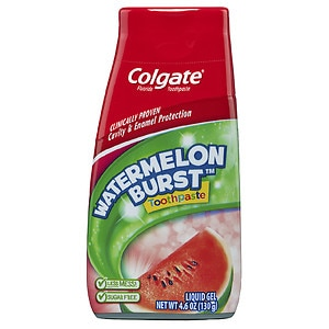 Colgate Kids 2 in 1 Toothpaste and Mouthwash, Watermelon Flavor- 4.6 oz