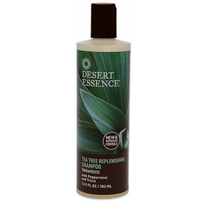 Desert Essence Tea Tree Replenishing Shampoo with Peppermint and Yucca