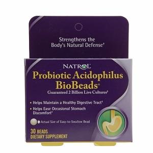 Natrol BioBeads, Probiotic Acidophilus, Beads- 30 ea
