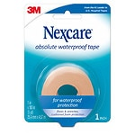 Nexcare Tape, Absolute Waterproof Foam, 1 x 180 inches (5yd)- 1 ea