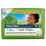 Seventh Generation Baby Free & Clear Diapers, Stage 5, 27+ lbs