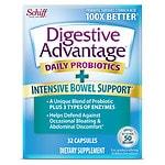 Schiff Digestive Advantage Intensive Bowel Support Capsules- 32 ea