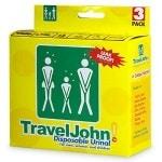 TravelJohn Disposable Urinal for Men, Women & Children- 3 ea