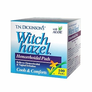 T.N. Dickinson's Witch Hazel Hemorrhoidal Pads, 100 ea