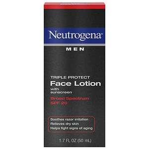 Neutrogena Men Triple Protect Face Lotion, SPF 20- 1.7 oz