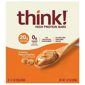 thinkThin High Protein Bars, Creamy Peanut Butter, 10 pk