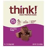 thinkThin High Protein Bar, Chocolate Fudge- 2.1 oz