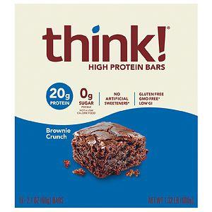 thinkThin High Protein Bars, Brownie Crunch, 10 pk