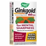 Nature's Way Ginkgold Ginkgo Biloba 60mg, Tablets- 150 ea