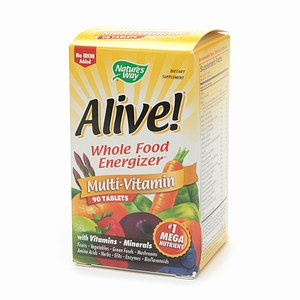 Nature's Way Alive! Whole Food Energizer Multivitamin, No Iron, Tablets, 90 ea