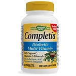 Nature's Way Completia Diabetic Multivitamin Iron Free Tablets- 90 ea