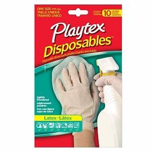 Playtex All Purpose Disposable Latex Gloves, 10 ea