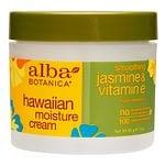 Alba Botanica Hawaiian Moisture Cream, Jasmine & Vitamin E- 3 oz