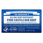 Dr. Bronner's All-One Hemp Pure-Castile Bar Soap, Peppermint- 5 oz